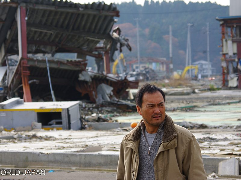 Ken Watanabe in Tohoku right after the disaster